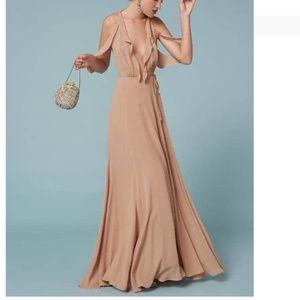 Reformation Cordelia Wrap Plunge Maxi Dress NWT 8